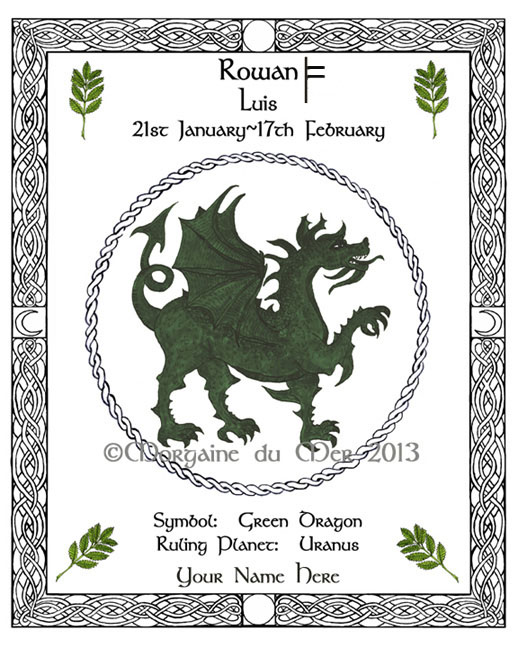 Celtic Zodiac Lunar Astrology Signs and Druid Tree Lore Fine Art PrintsCeltic Zodiac Lunar Astrology SignsDruid Tree Lore Prints