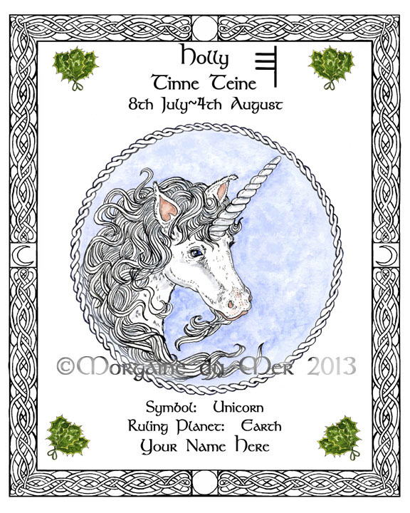 Druid Tree Lore Astrology Celtic Lunar Zodiac Sign Art