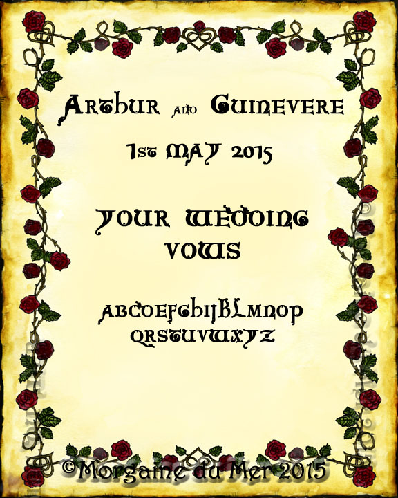 Custom Wedding Handfasting Anniversary Vows Certificates By